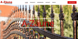 A-Zäune – Google Werbung & Webseite