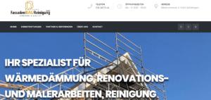 B&B Fassadenbau- und Reinigung – Webseite