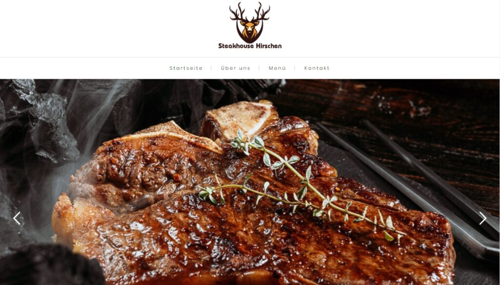 Steakhouse Hirschen - Webseite - Social Media - Digital Marketing Switzerland