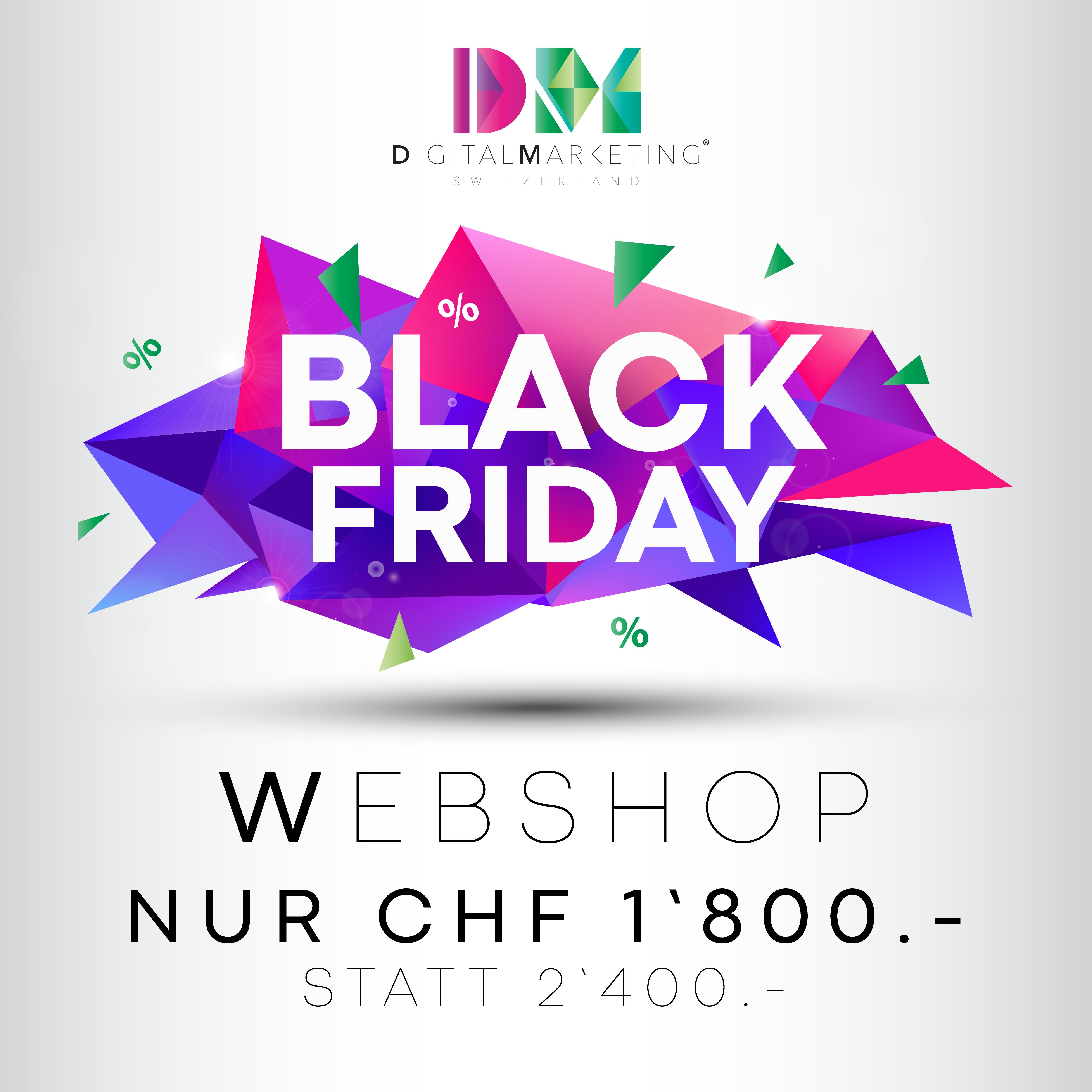 Black Friday Angebot - Digital Marketing Switzerland - Webshop